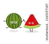 best friends forever. cute... | Shutterstock .eps vector #1165257187