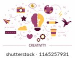 creativity concept. idea of... | Shutterstock .eps vector #1165257931