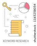 keywording or keyword research...   Shutterstock .eps vector #1165258054
