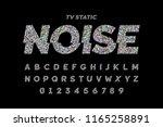 tv static noise effect font... | Shutterstock .eps vector #1165258891
