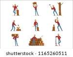 classic american lumberjack in... | Shutterstock .eps vector #1165260511