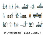 happy people working in oil... | Shutterstock .eps vector #1165260574