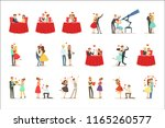 couples in love romantic st.... | Shutterstock .eps vector #1165260577