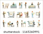 architect profession set of... | Shutterstock .eps vector #1165260991