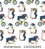 seamless pattern with cute... | Shutterstock .eps vector #1165262641