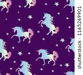 unicorn silhouette seamless...   Shutterstock .eps vector #1165269901