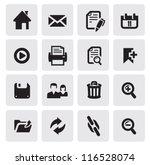 vector black web icons set on...