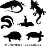 Set Of Vector Reptiles