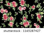 watercolor flower pattern on... | Shutterstock . vector #1165287427