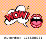 open mouth with speech bubble... | Shutterstock .eps vector #1165288381