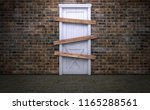 abandoned and boarded up old... | Shutterstock . vector #1165288561
