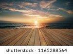 empty wooden deck and beautiful ... | Shutterstock . vector #1165288564