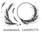 rye  barley or wheat round... | Shutterstock .eps vector #1165291771