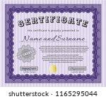 violet diploma template. good... | Shutterstock .eps vector #1165295044
