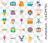 set of 25 transparent icons... | Shutterstock .eps vector #1165299781
