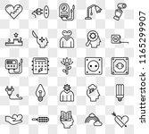 set of 25 transparent icons... | Shutterstock .eps vector #1165299907