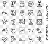 set of 25 transparent icons... | Shutterstock .eps vector #1165299964