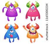 cartoon monsters. vector set of ... | Shutterstock .eps vector #1165300234