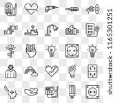 set of 25 transparent icons... | Shutterstock .eps vector #1165301251