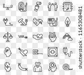 set of 25 transparent icons... | Shutterstock .eps vector #1165308481