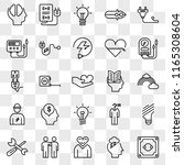 set of 25 transparent icons... | Shutterstock .eps vector #1165308604