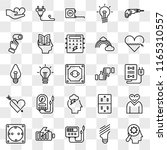set of 25 transparent icons... | Shutterstock .eps vector #1165310557