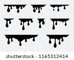 dripping paint set. liquid... | Shutterstock .eps vector #1165312414