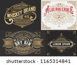 set of 4 old labels | Shutterstock .eps vector #1165314841