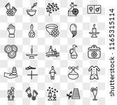 set of 25 transparent icons... | Shutterstock .eps vector #1165315114