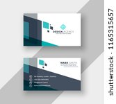 abstract modern business card... | Shutterstock .eps vector #1165315657