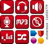icon set music   Shutterstock .eps vector #116531779