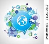 vector social media concept  ...   Shutterstock .eps vector #116532019