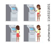 african american woman using... | Shutterstock .eps vector #1165321831
