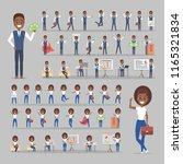set of african american... | Shutterstock .eps vector #1165321834