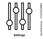 settings icon vector isolated... | Shutterstock .eps vector #1165322884