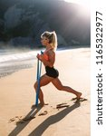 fit woman training with...   Shutterstock . vector #1165322977