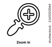 zoom in icon vector isolated on ...   Shutterstock .eps vector #1165323064