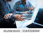 coding software developer work... | Shutterstock . vector #1165326064