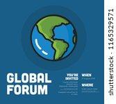 global forum invitation design...   Shutterstock .eps vector #1165329571