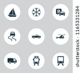 transport icons set with...   Shutterstock .eps vector #1165331284
