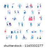 different people big vector set ... | Shutterstock .eps vector #1165332277
