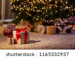 beautiful christmas gift boxes... | Shutterstock . vector #1165332937