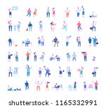different people big vector set.... | Shutterstock .eps vector #1165332991