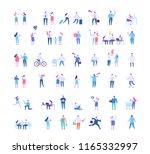 different people big vector set.... | Shutterstock .eps vector #1165332997