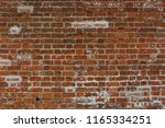 antique red brick wall surface... | Shutterstock . vector #1165334251