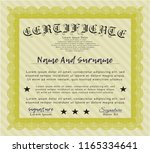 yellow certificate template or...   Shutterstock .eps vector #1165334641