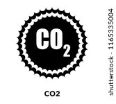 co2 sign icon vector isolated...   Shutterstock .eps vector #1165335004