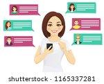 online chat vector illustration.... | Shutterstock .eps vector #1165337281