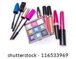 makeup set isolated on white... | Shutterstock . vector #116533969