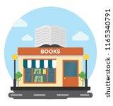an outdoor bookshop or a... | Shutterstock .eps vector #1165340791